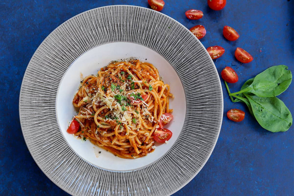 Healthy pasta meal for swimming nutrition