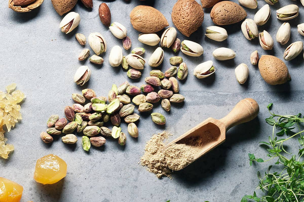 Good fats like nuts for swimming nutrition