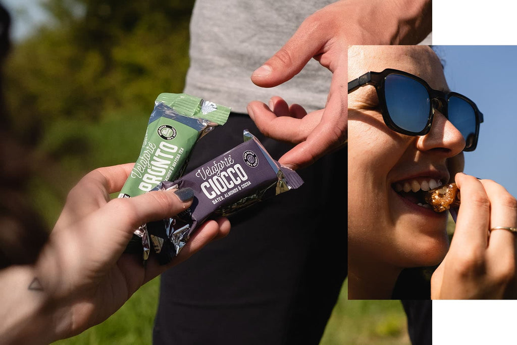 Tennis players with energy bars