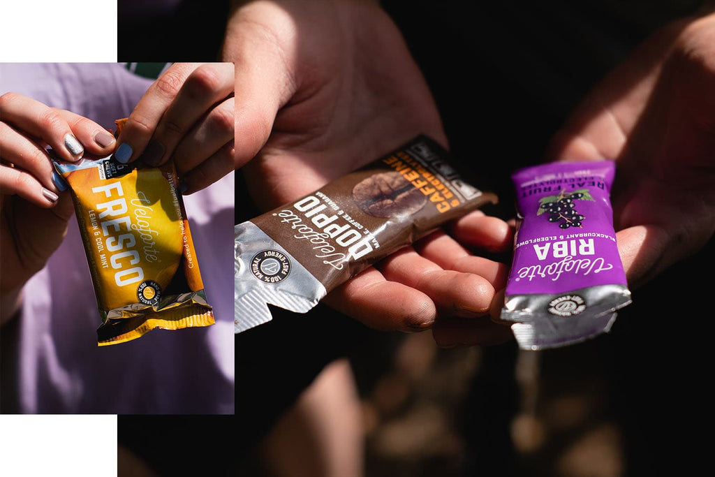 Energy gels and chews for tennis