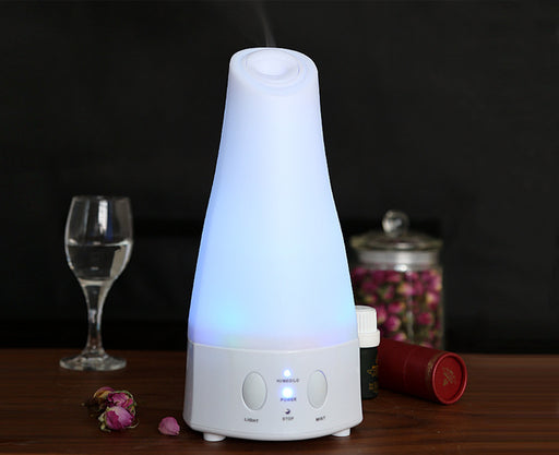 120ml Aromatherapy Essential Oil Diffuser Portable Ultrasonic Diffusers Cool Mist Humidifier with LED Lights and Waterless Auto Shut-off for Home Office Bedroom Room