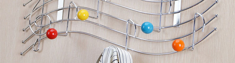 York Lyra Over the Door 10-Hook Rack for Coats, Hats, Robes, Towels