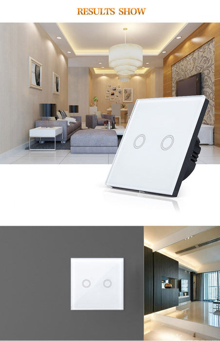 EU/UK Standard  Smart home, Ivory White Crystal Glass Panel, Digital Touch Screen, Dimmer Control Home Wall Light Switch,Crystal Glass Switch Panel,Single FireWire touch sensing wall switch