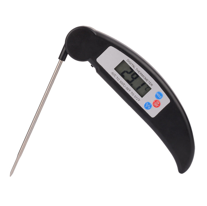 Read Food Temps Fast - Instant Talking Meat Thermometer - Large Backlit LCD Display & Folding Probe - Tested BEST OF 21! Clear Voice, Accurate - Perfect for Steak Grilling, BBQ, Candy & Baby Bath