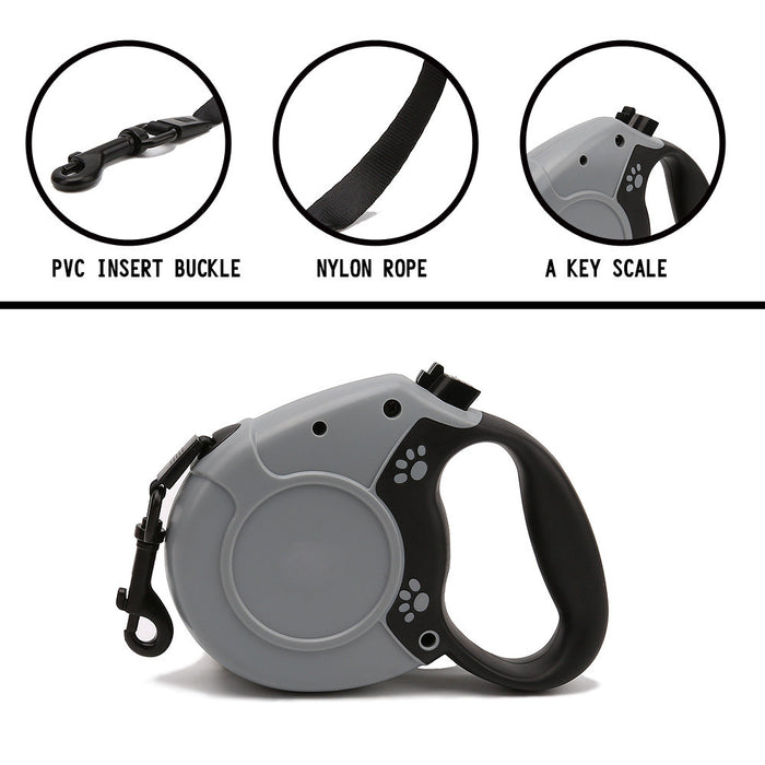 Retractable Dog Leash, 16ft Dog Walking Leash for Large Medium Small Dogs up to 110 lbs, Tangle Free, Soft Hand Grip, Reflective Ribbon Cord, One Button Brake
