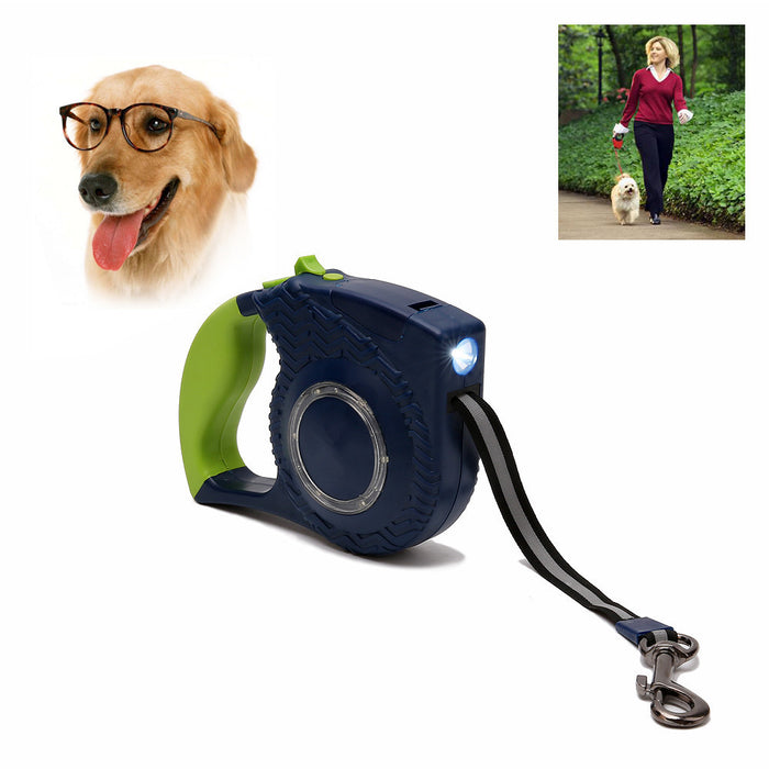 Retractable Dog Leash, 16ft Dog Walking Leash for Large Medium Small Dog Up to 110lbs, Break & Lock System, Reflective Ribbon Cord