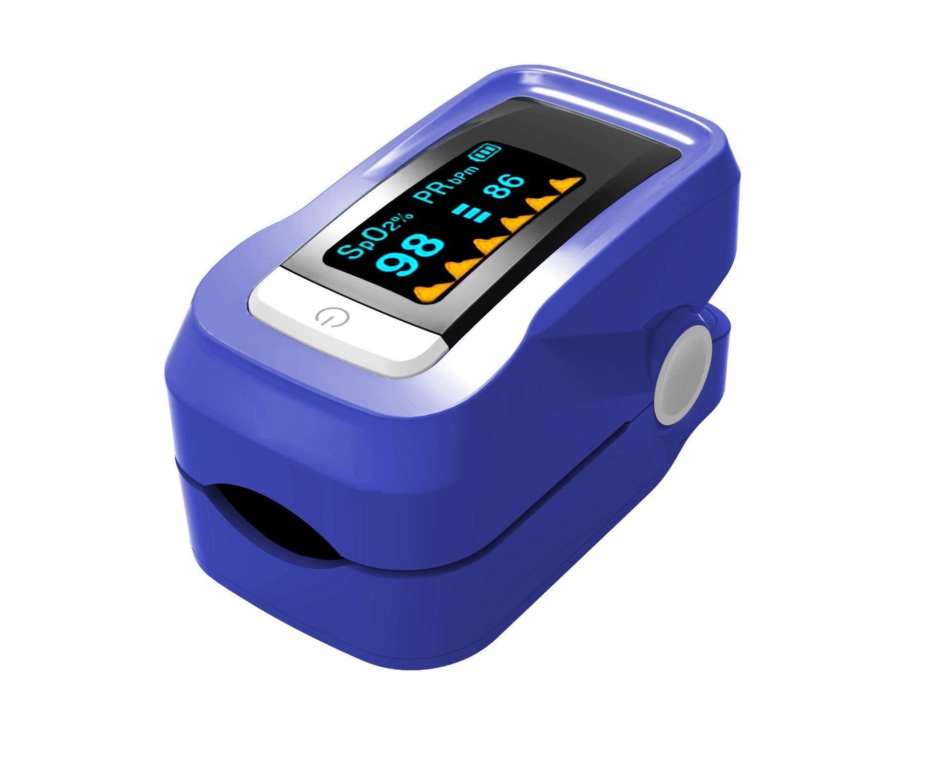 Fingertip Pulse Oximeter Oximetry Blood Oxygen Saturation Monitor with  carrying case, batteries and lanyard