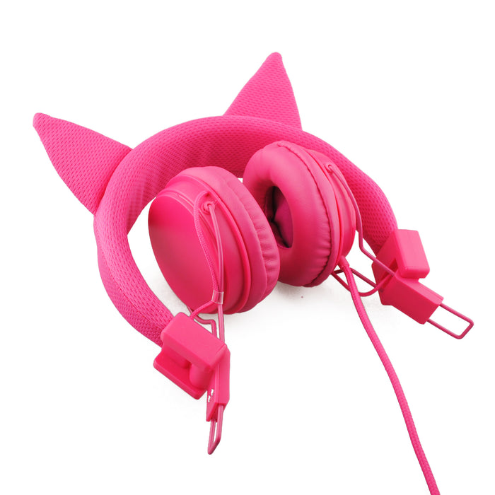 BoostCare Wired Kids Headphones Cat-inspired Over the Ear Headsets with 85 Volume Limited, Food Grade Silicon Material
