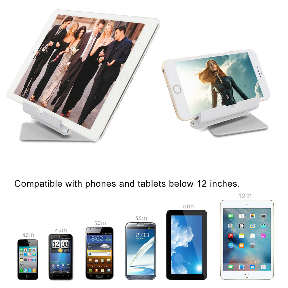 Portable Multi-Angle Stand for Tablets, e-readers and Smartphones, Compatible with iPhone, iPad, Samsung Galaxy / Tab, Google Nexus, HTC, LG, Nokia Lumia, OnePlus and More