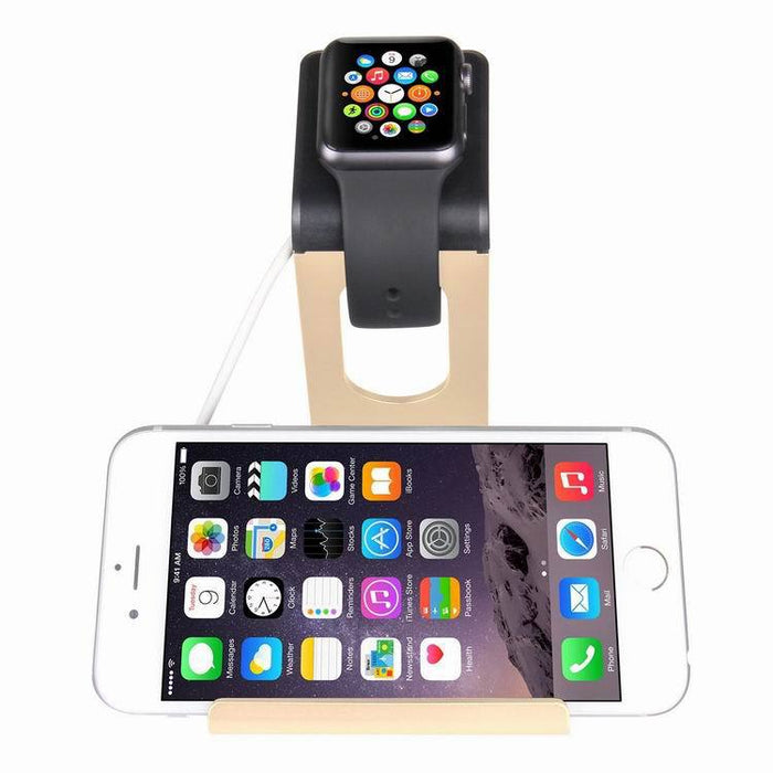 Apple Watch Stand, Night Stand Mode iWatch Charging Stand Bracket Docking Station Holder for Apple Watch Series 3/Series 2/ Series 1 (42mm 38mm) iPhone X 8 8plus 7 7plus 6S 6plus -