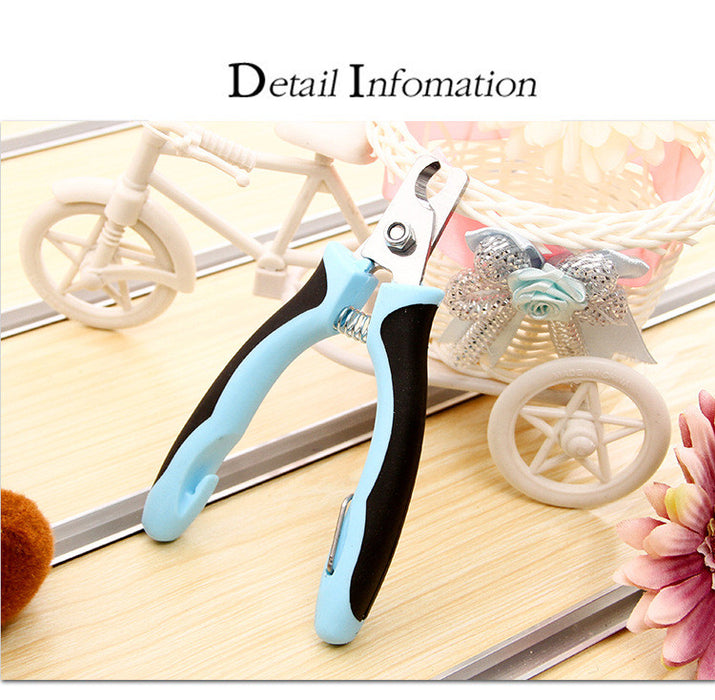 Dog Nail Clippers and Trimmer  With Safety Guard to Avoid Over-cutting Nails & Free Nail File - Razor Sharp Blades - Sturdy Non Slip Handles - For Safe, Professional At Home Grooming