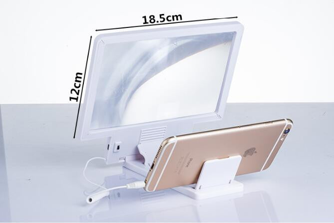 Screen Magnifier,Cell Phone 3D HD Movie Video Amplifier with Foldable Holder Stand for iPhone 7/7 Plus/6/6s/6 Plus/6s Plus and All other Smart Phones