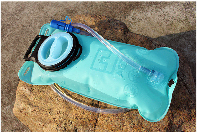 Portable 2 Liter Hydration Bladder , Sports Water Bladder for Outdoor Use – Blue