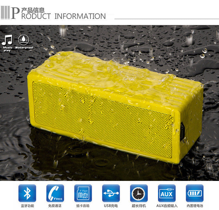 lus Waterproof Bluetooth Speaker - Durable Portable Outdoor Wireless Sound System - Features Powerful Bass and Clear Treble - Hands-Free with Built-In Microphone - Dust and Shock Resistant