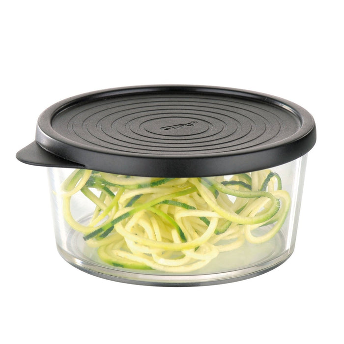 Turning Slicer / Handheld Plastic Spiralizer incl. 2 Different Blades Made of Stainless Steel Appetitliche Spiralen für Salate und Suppen sind mit dem SPIRALFIX im Handumdrehen gezaubert.