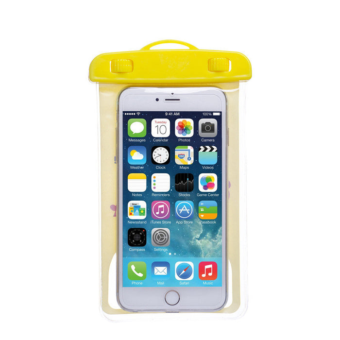 Premium Quality Universal Waterproof Case with Armband and Lanyard - Best Water Proof, Dustproof, Snowproof Pouch Bag for iPhone 7, 6S, 6, Plus, 5S, Samsung Galaxy Phone, S6, Note 5, 4