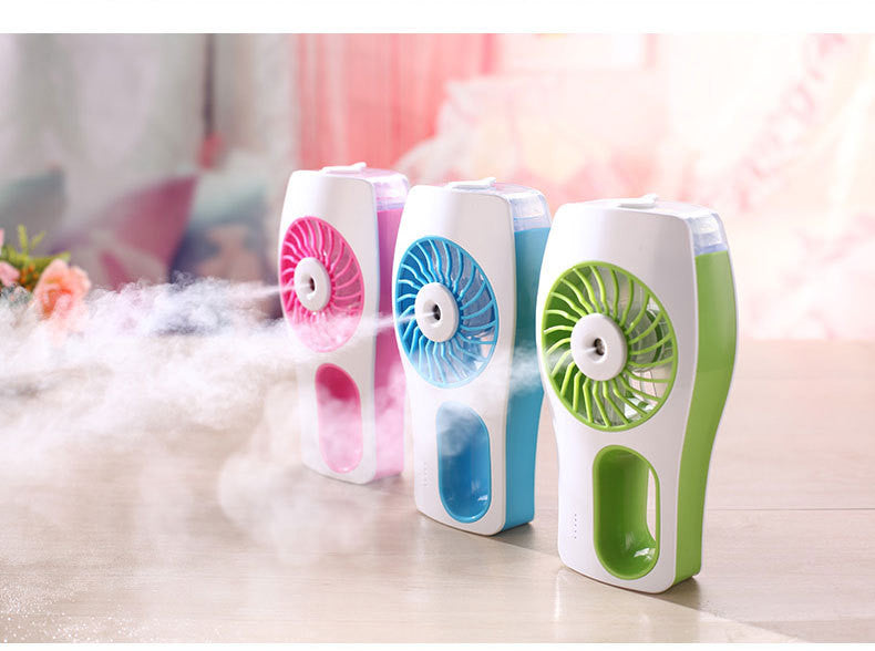 handheld mist fan,Mini USB Handheld Beauty Moisturizing Fan with Personal Cooling Spray Humidifier Built-in Rechargeable Battery for Beauty,Home, Office, Travel, Outside and More
