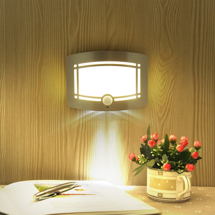 Luxury Aluminum Stick Anywhere Bright Motion Sensor LED Wall Sconce Night Light