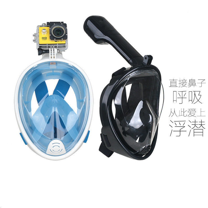 Easy Snorkel Mask - Go Pro Compatible Snorkeling Mask with Anti-Fog and Anti-Leak Technology - Breath Underwater with this Full Face Snorkel Mask with 180° View for Adults and Youth