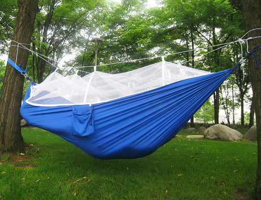 Hammock Single & Double Camping Hammocks - Top Rated Best Quality Gear For The Outdoors Backpacking Survival or Travel - Portable Lightweight Parachute Nylon