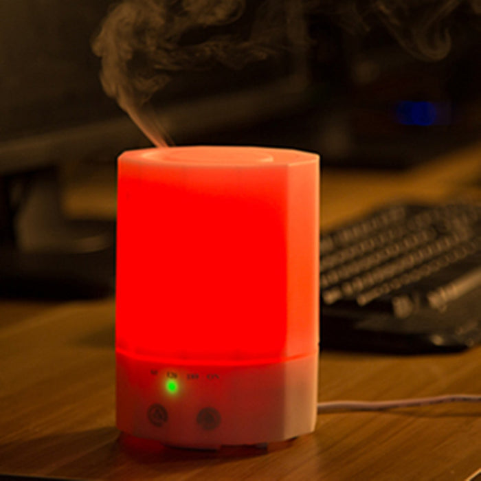 Aromatherapy Essential Oil Diffuser, Ultrosonic Aroma Diffuser with Soothing Color LED Light, Portable Humidifier 200ml