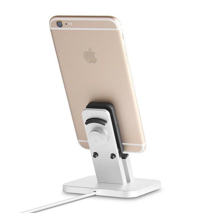 iPhone stand.Aluminum iPhone Charger Stand Dock station for iPhone Charging Dock, iPhone Charger, Stand for iPhone 8, 8 Plus, iPhone X, iPhone 7, 7 Plus, 6, 6 Plus, Support Charging with Case