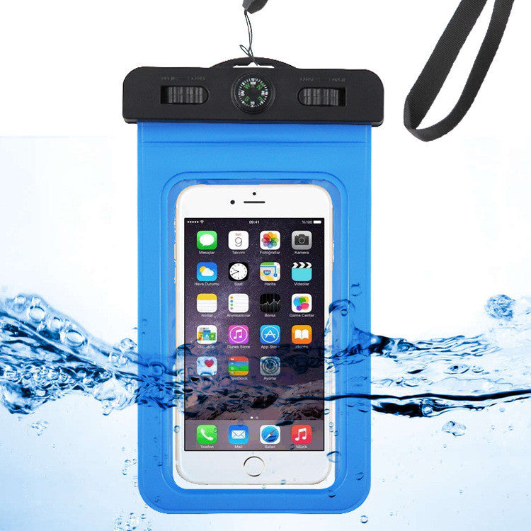 Waterproof Cell Phone Case (Deluxe) - Dry Bag Pouch for Apple iPhone 6s, 6s Plus Samsung Galaxy s7, s7 Edge, s6, s6 Edge, Any Phone up to 6 Inches - Adjustable Lanyard