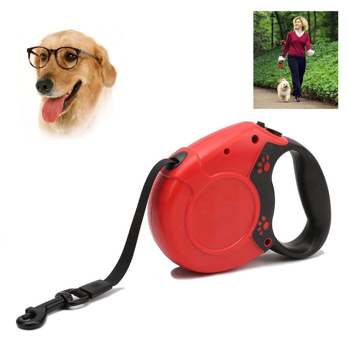 16 ft Dog Walking Leash for Small Medium Large Dogs up to 110lbs, One Button Break & Lock, Tangle Free, Dog Waste Dispenser and Bags