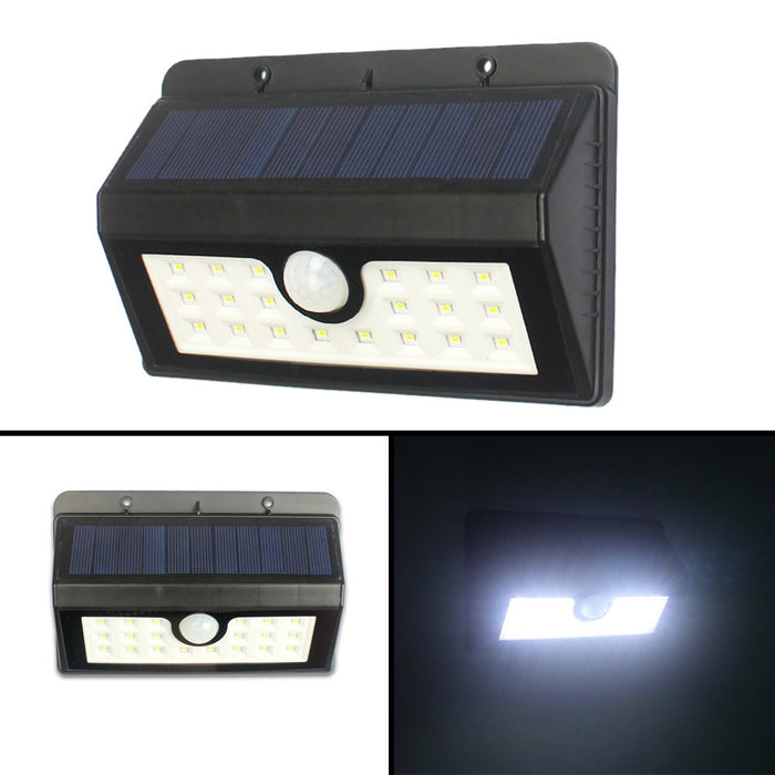 Solar Lights 2-Pack 20LED Motion Sensor Light Waterproof Outdoor Wall Lighting for Garden,Patio