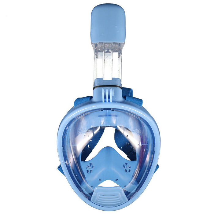 Full Face Snorkel Mask with Gift Earplugs. 180° Panoramic View, Leak proof, Adjustable Head Straps, Longer Snorkel, Anti Fog.