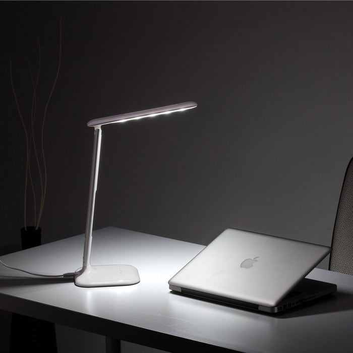 LED Desk Lamp Eye-caring Table Lamps, Dimmable Office Lamp with USB Charging Port, Touch Control, 3 Color Modes