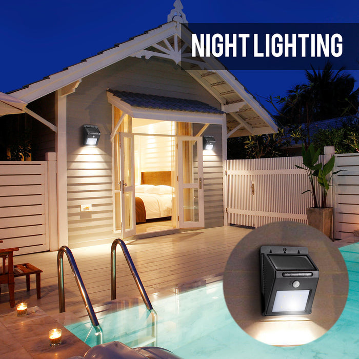 Solar Motion Sensor Lights, 16 LED Solar Lights Outdoor Wireless Waterproof Security Wall Light for Garden,Patio, Deck, Yard, Driveway, Outside Steps(1-Pack)