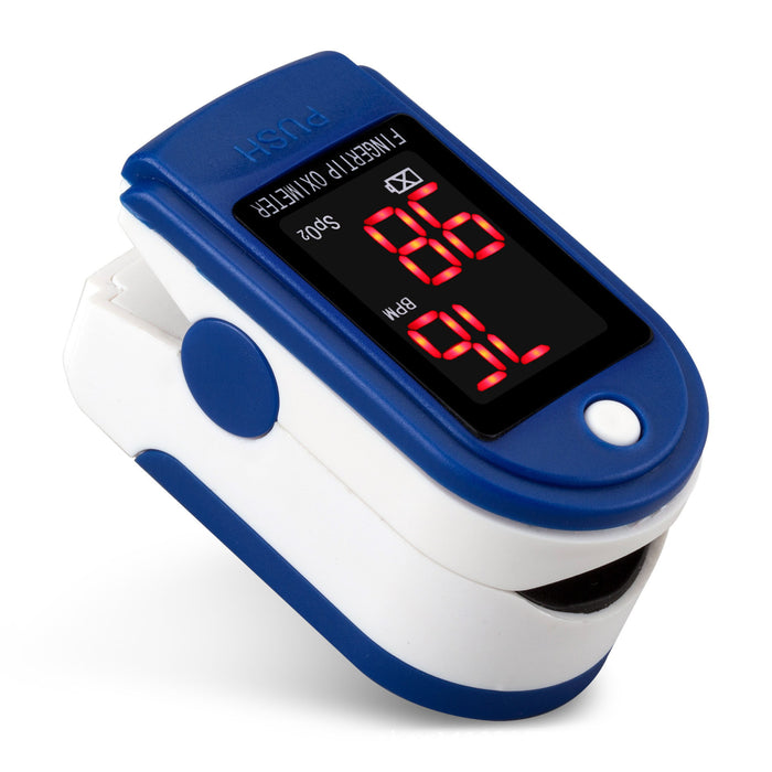 Pro Series CMS 500DL Fingertip Pulse Oximeter Blood Oxygen Saturation Monitor with silicon cover, batteries and lanyard