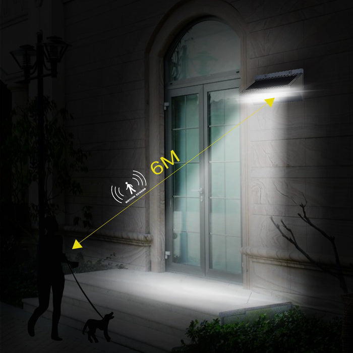 Solar Lights Outdoor Motion Sensor, iThird 21 LED 330LM Solar Powered Security Lights for Yard Patio Garage Waterproof 3 Modes Super Bright
