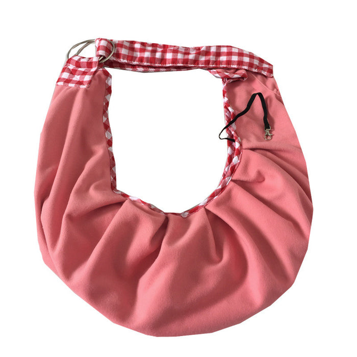 Dog Carrier Sling Pet Sling, Adjustable Pet Sling Carrier for Dogs/Cats/Bunny under 13lbs, Extra Safety Puppy Carrier with Collar Latch and Loop