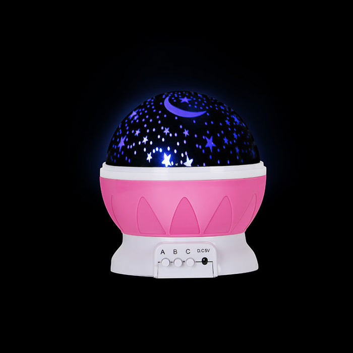 Night Light LED Moon and Star Romantic Rotating Sky & Cosmos Cover Projector Night Lighting for Children Adults Bedroom, Mood/Decorative Light, Baby Nursery Light, Living Room Gift (Blue)
