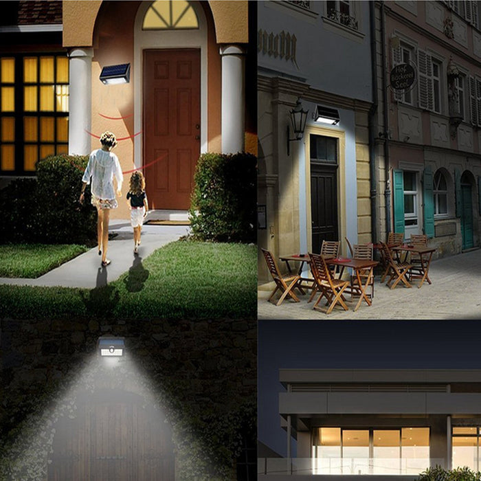Solar Lights,400 Lumens Solar Powered Motion Sensor Light,32 LED Rechargeable Waterproof Outdoor Wireless Wall/Step/Porch/Pathway/Garden/Street Security Lighting