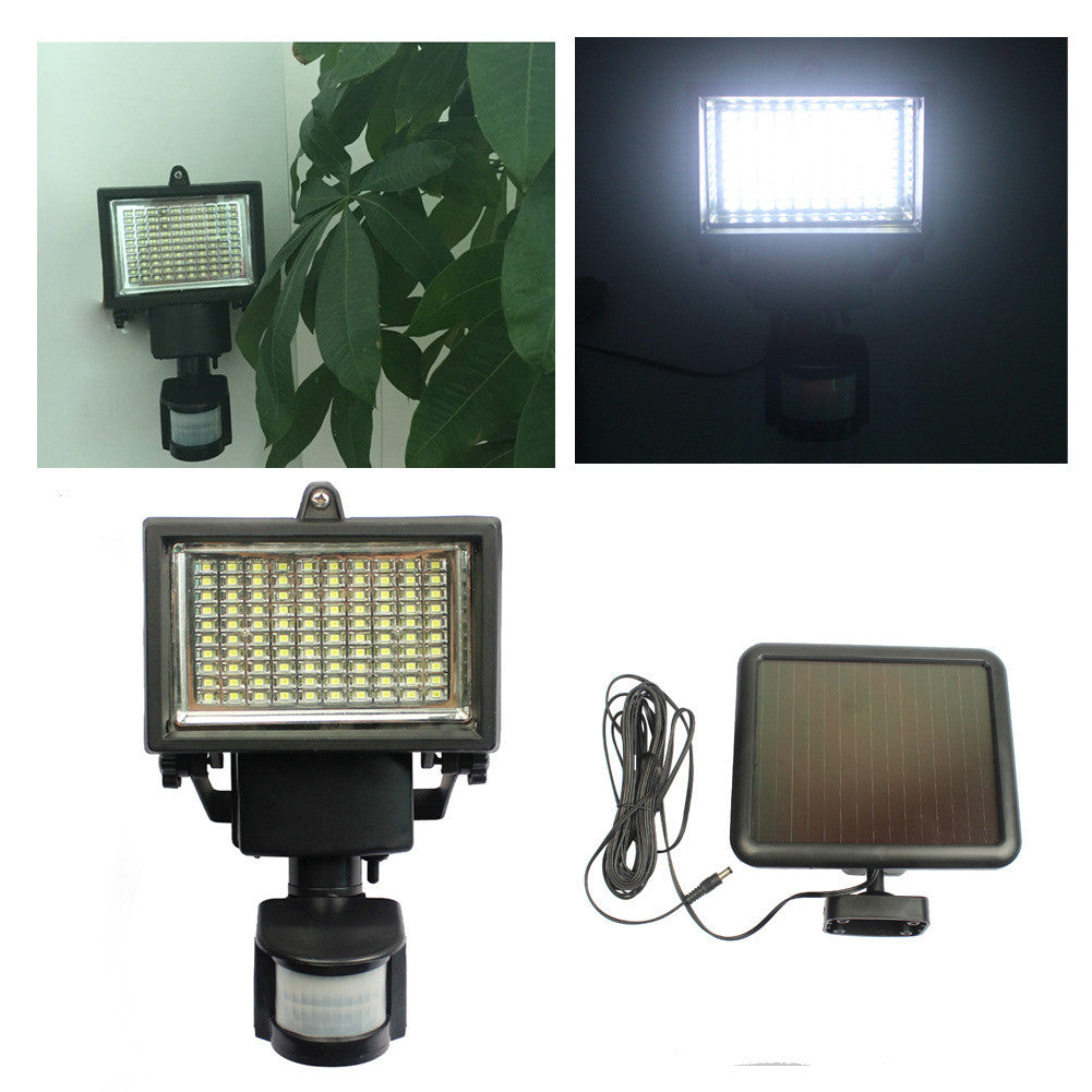 Home Lighting Outdoor LED Security Lights with Motion Sensor and Solar Panel for Wireless Outdoor Lights, Color Black LED Floodlights By Solar Motion Lighting