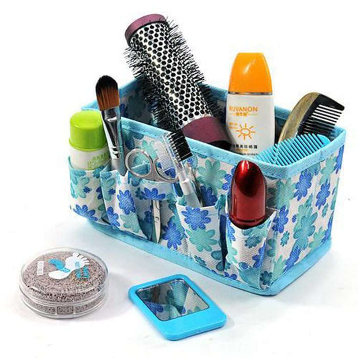 L Large Capacity Foldable Make Up Cosmetics Storage Box Container Bag Dresser Desktop Cosmetic Makeup Organizer
