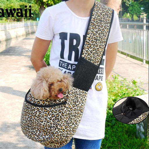 Dog Carrier Sling Pet Sling, Adjustable Pet Sling Carrier for Dogs/Cats/Bunny under 13lbs Nature Canvas Single Shoulder Dog Cat Carrier Pet Sling Bag