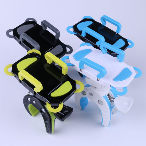 "Bike & Motorcycle Phone Holder, Bicycle Smartphone Mount GPS Cradle 360° Adjustable Suitable Any Bike Handlebar For iPhone Samsung Galaxy Up-to-3.7"" Wide 100% to Safeness & Comfort"