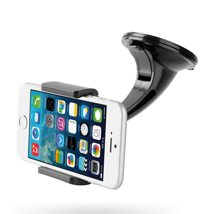 Car Mount Holder, Windshield Dashboard Universal Car Mobile Phone Cradle for iPhone 7 Plus 7 6S Plus 6S 5S 5C Samsung Galaxy S7 Edge S7 S6 S5 Note 5 4 LG G5 G4 HTC M10 and Most Smartphones