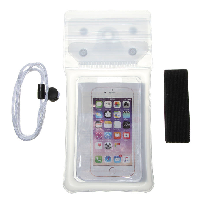 Waterproof Case,Cell Phone Universal Dry Bag Pouch with Headphone Jack+Lanyard+Armband [Clear] for Apple iPhone 7 6 Plus,Samsung S8 S7 S6 edge, Smartphone Devices Up To 6.0""
