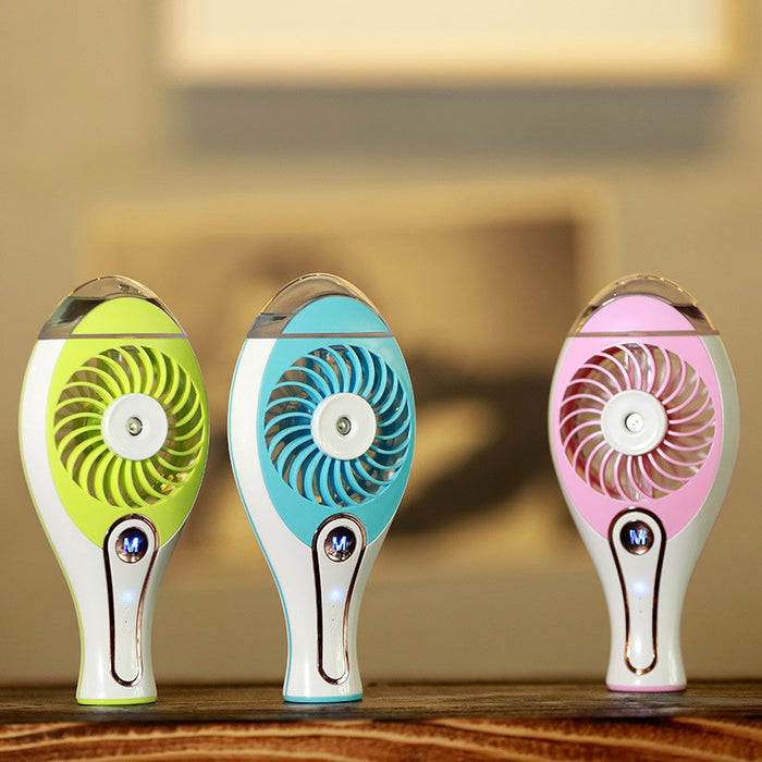 Mini Handheld USB Misting Fan with Personal Cooling Mist Humidifier Rechargeable Portable Mini Misting Cooling Fan for Home Office and Travel