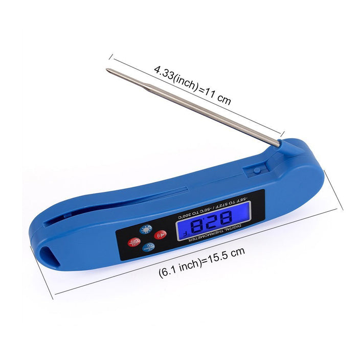 Digital Meat & Cooking Thermometer - Instant Read, Talking, Back Light, Collapsible Probe, Auto-off. Comes in Premium Gift Box, with eCookbook. For Food, Kitchen, BBQ, Grill!