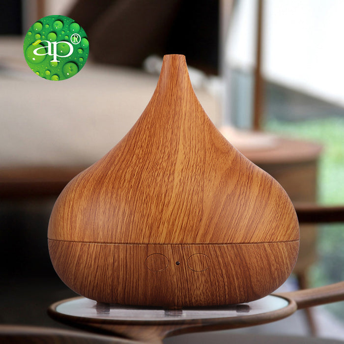 Aromatherapy Essential Oil Diffuser, Ultrasonic Cool Mist Humidifier with Wood Grain Design for Office, Room, Spa