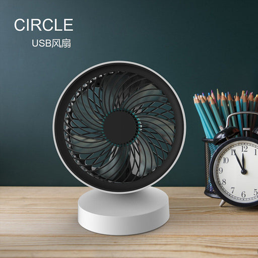 USB Fan,  Small Desk Fan Easy to Clean Personal Fan Quiet Office Fan Mini Desktop Fan with 7 Blades, Little Table Fan for Home Office Computer Desk, Work Desk, Living Room, Bedroom, Black-White