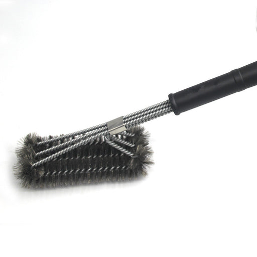 "18"" Grill Brush. Best BBQ Cleaner. Safe For All Grills. Durable & Effective. Stainless Steel Wire Bristles And Stiff Handle. A Perfect Gift For Barbecue Lovers."