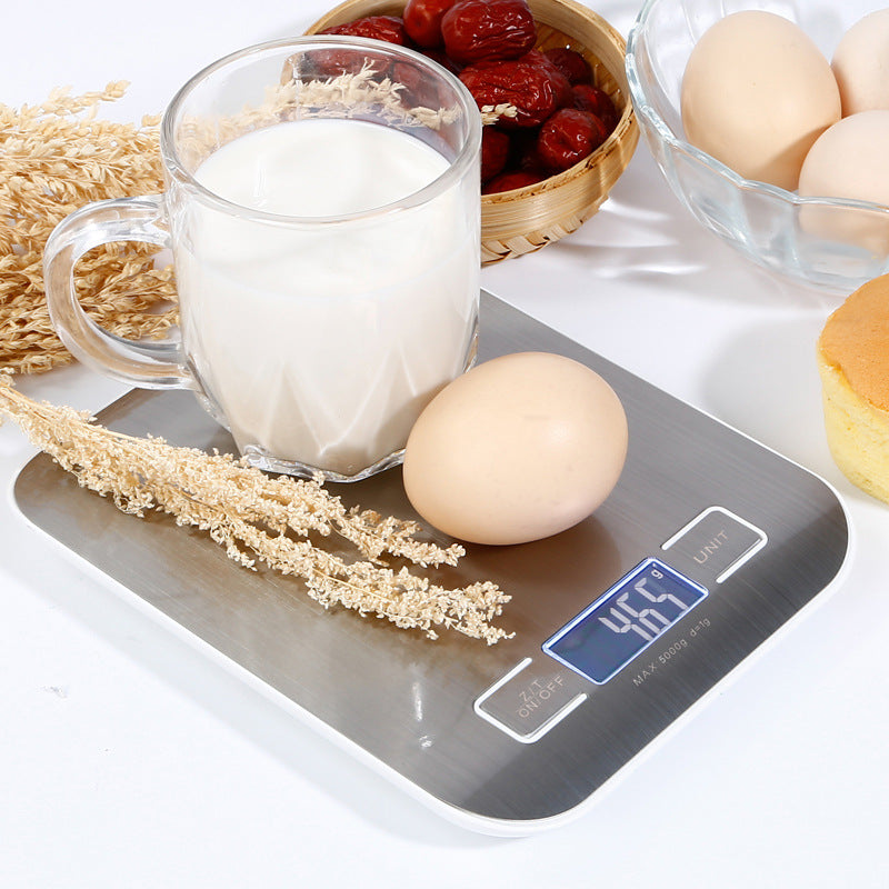 Digital Kitchen Scale Multifunction Food Scale, 11 lb 5 kg, Silver