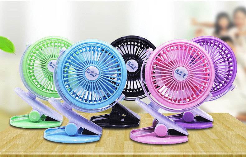 Battery Operated Clip on Fan for Baby Stroller Car Back Seat Laptop Travel Outdoors Camping ,Small Personal Fan Mini Desk Table Fan Portable Hand Held Powered by Rechargeable 2600mAh Battery or USB